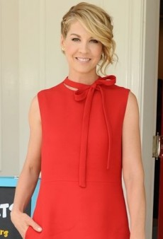 Jenna Elfman Gets Tied Up in a Little Red Valentino Dress