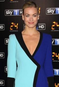 Yvonne Strahovski Keeps It Black and Blue in Emanuel Ungaro