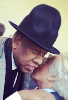 André Leon Talley Wears the Infamous Pharrell Hat to the Anna Wintour Costume Center Ribbon Cutting