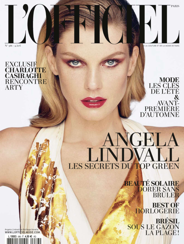 L'Officiel Paris June / July 2014 Angela Lindvall