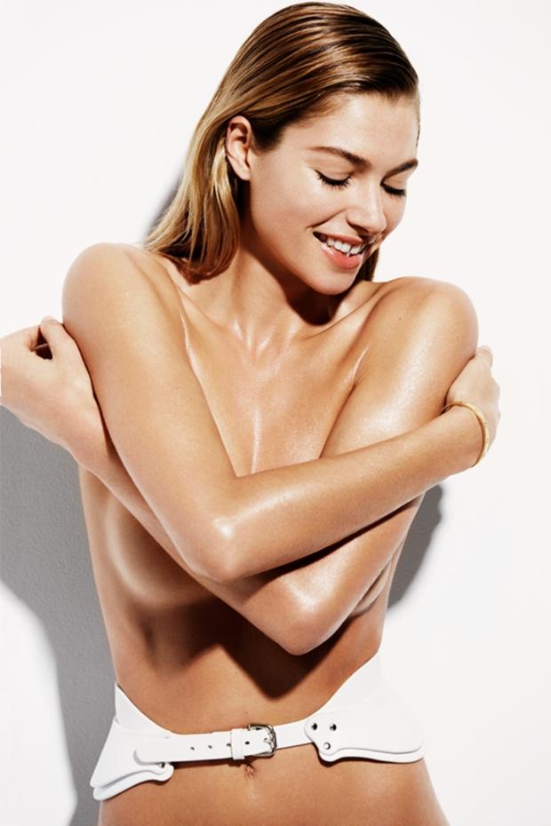Jessica Heart Topless in Harper's Bazaar