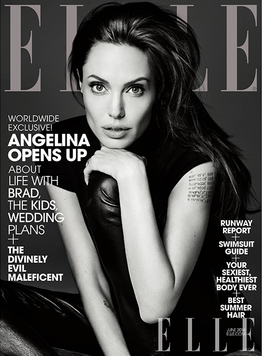 US Elle June 2014 Angelina Jolie