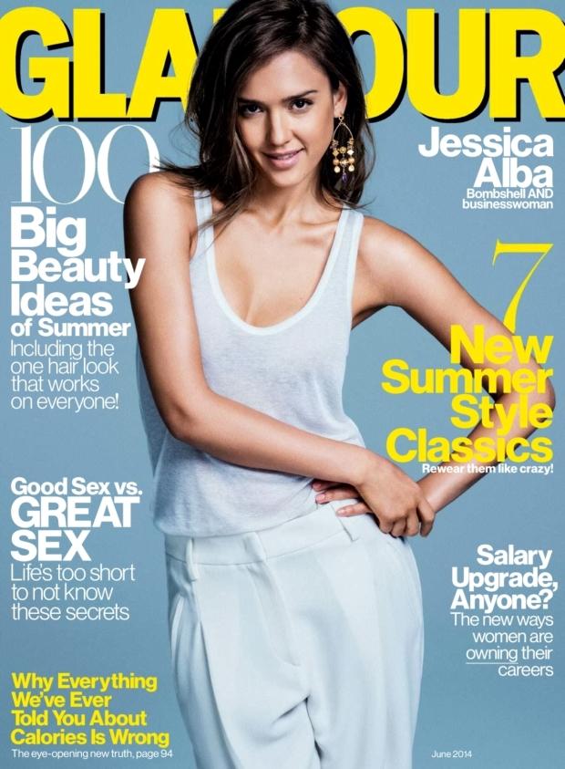 US Glamour June 2014 Jessica Alba