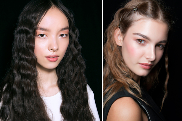 wavy hair at Anna Suit Spring 2014