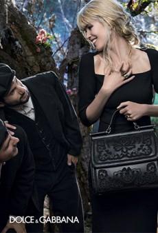 Dolce & Gabbana Brings Back Claudia Schiffer for Bizarre Ad Campaign
