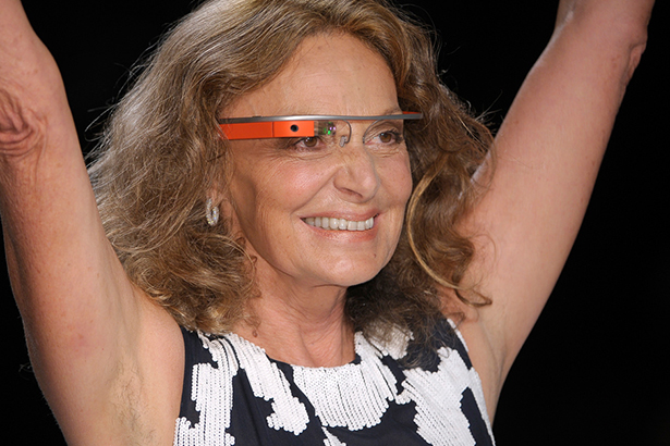Diane Von Furstenburg google glass runway