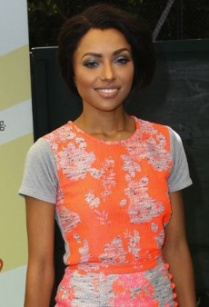 Kat Graham Colorfully Clashes in a Vibrant Katharine Kidd Ensemble