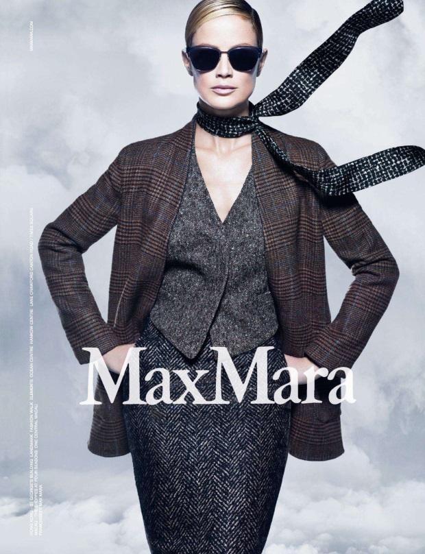 Ad Campaign Max Mara Fall 2014 Carolyn Murphy Mario Sorrenti