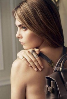 Cara Delevingne Strips Off and Gets Sewing for Mulberry