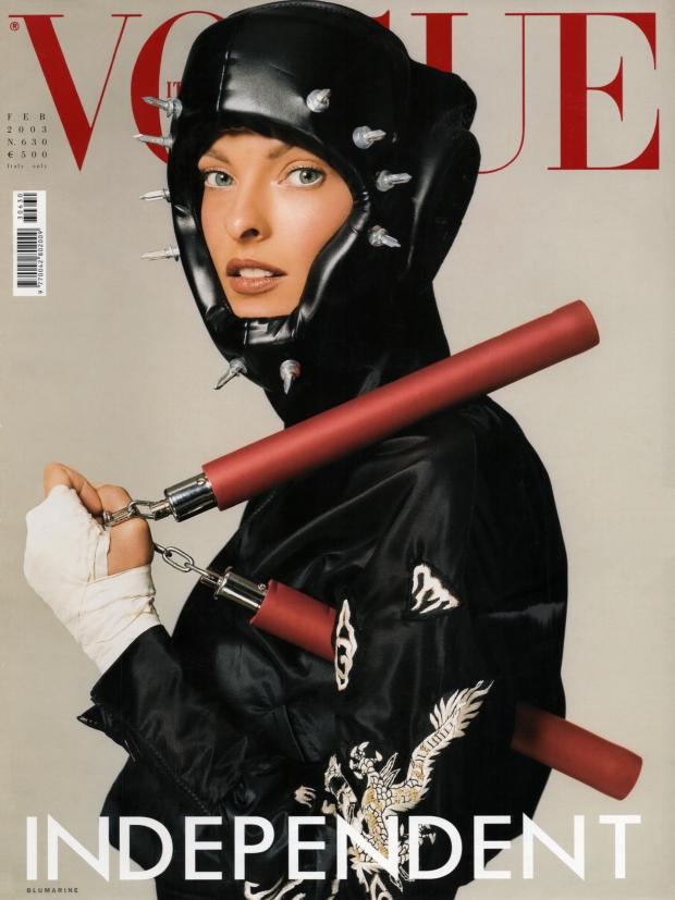Flashback Vogue Italia February 2003 Linda Evangelista Steven Meisel