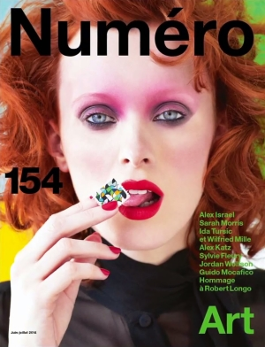 French Numero June July 2014 Karen Elson