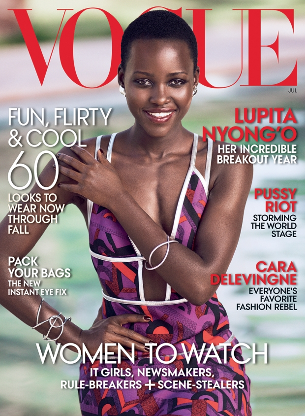 US Vogue July 2014 Lupita Nyong'o Mikael Jansson