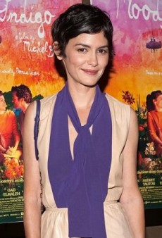 Audrey Tautou Colorblocks Like a Pro in Prada