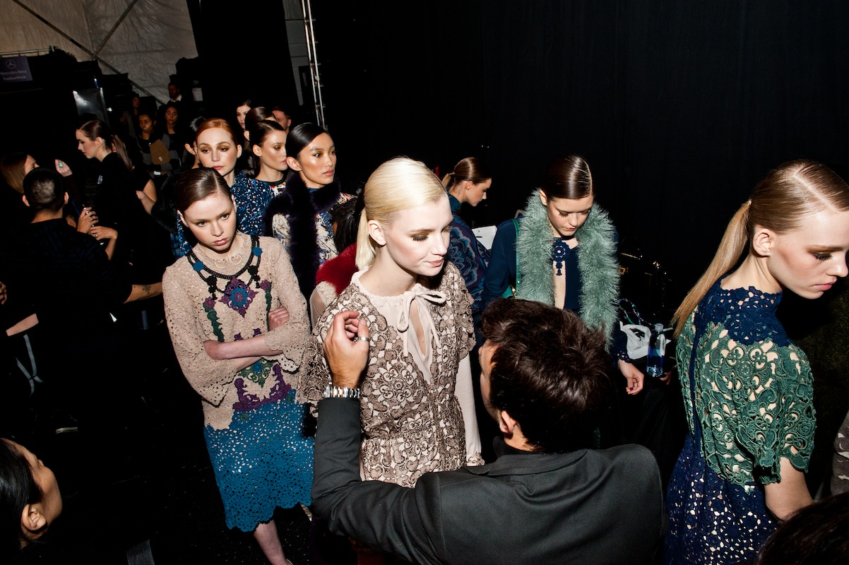 Backstage - VT Models getting the final touches