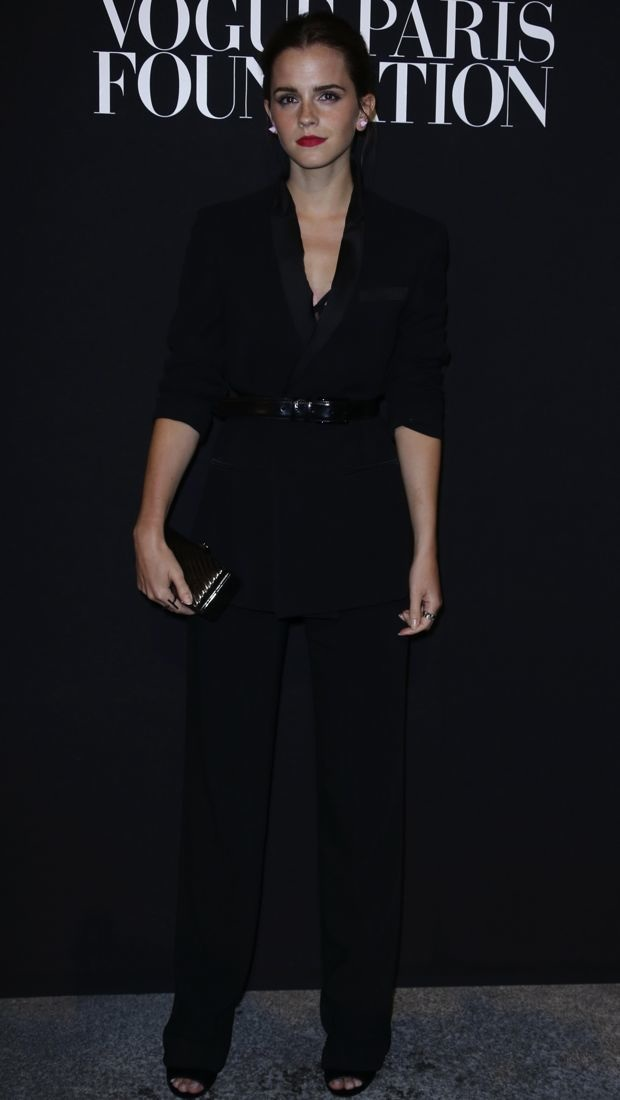 Emma Watson suits up for Vogue Paris Party in Givenchy