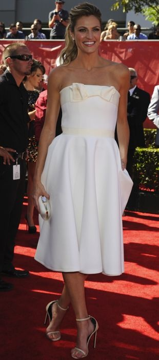 Erin Andrews sports a white Lanvin dress at the ESPYs
