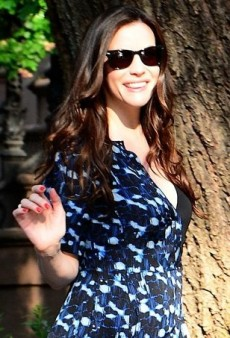 Liv Tyler Doubles Up in Proenza Schouler's Printed Dress