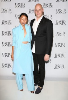 Designers and Their Muses for the David Jones White Carpet
