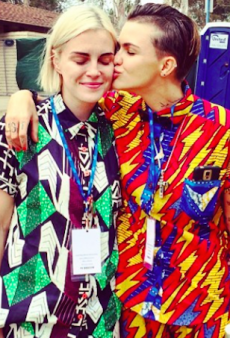 Ruby Rose and Fiancee Promote Upcoming Fashion Collection at Gay Pride Festival