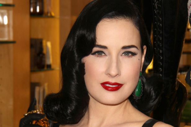 dita von teese launches lingerie capsule with destination maternity thefashionspot. Black Bedroom Furniture Sets. Home Design Ideas