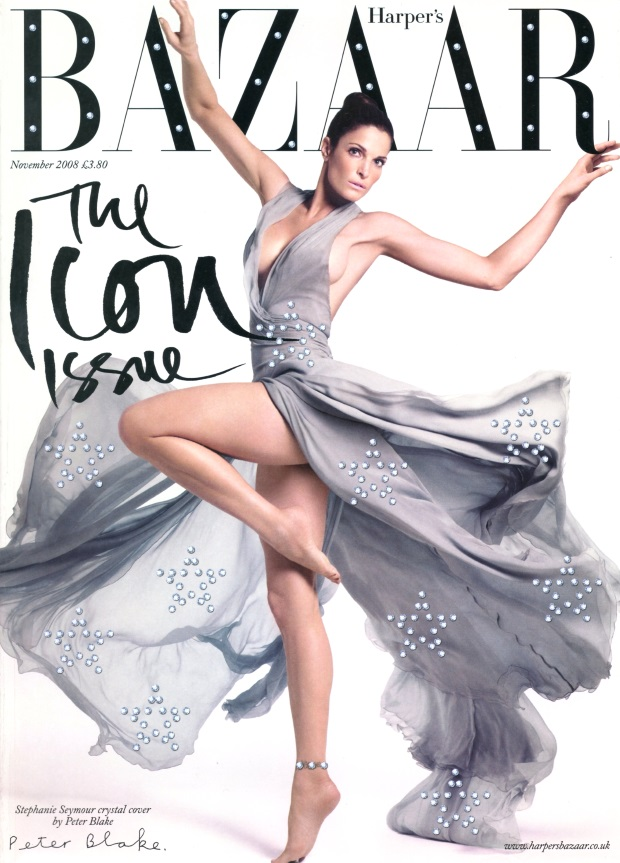 Flashback UK Harper's Bazaar November 2008 Stephanie Seymour
