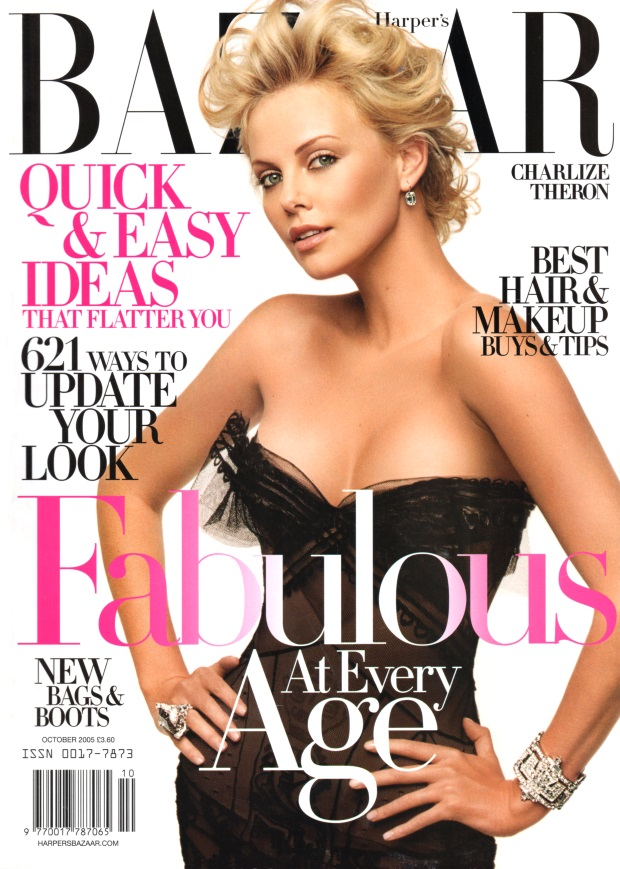 Flashback US Harper's Bazaar October 2005 Charlize Theron