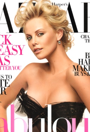 flashback-us-harpers-bazaar-october-2005-charlize-theron-portrait