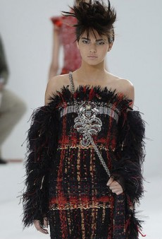 Serious Model Kendall Jenner Walks for Chanel Couture Fall 2014