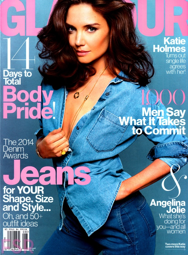 US Glamour August 2014 Katie Holmes Tom Munro