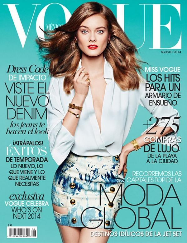 Vogue Mexico August 2014 Monika Jagaciak