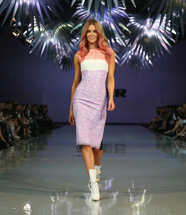 Jennifer Hawkins Alex Perry Myer Spring Summer 2014