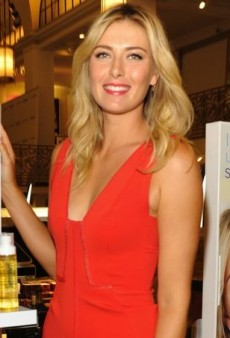 Maria Sharapova Sports a Fiery J. Mendel Dress to Promote Supergoop!