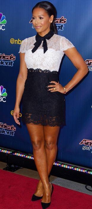 Mel B kicks off live voting for America's Got Talent in Valentino