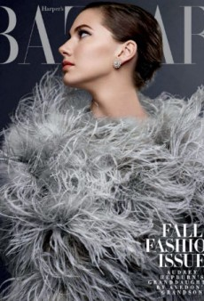 That's Audrey Hepburn's Granddaughter on Harper's Bazaar