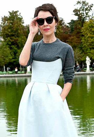 White t under dress shirt
