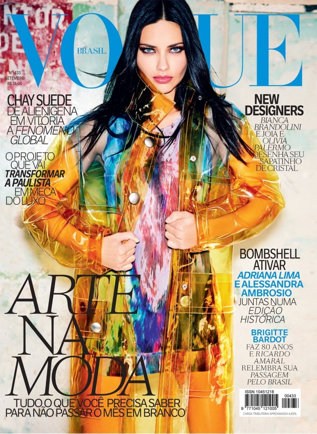 Vogue Brazil September 2014 Adriana Lima