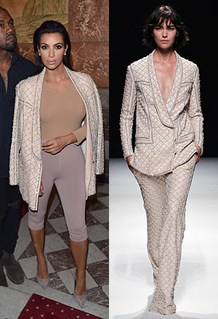 Kim Kardashian Balmain Party