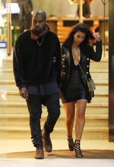 Kim Kardashian Rocks Double Leather in Melbourne