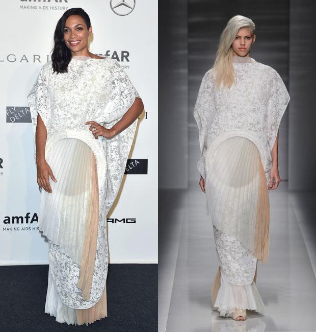 Rosario Dawson Vionnet Couture amfAR Event