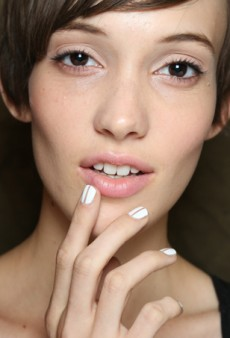 Beauty Trendspotting: Minimal Negative Space Nail Art at NYFW