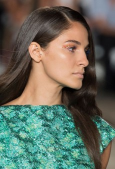 Backstage at NYFW: Fairy Eyes and Relaxed Hair at Christian Siriano