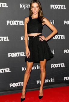 Alessandra Ambrosio Opts for Alex Perry Threads Amid Australian Visit