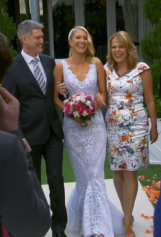 The Block's Maxine Marries Karstan in a Stunning Alex Perry Gown