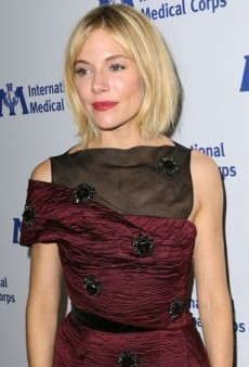 Sienna Miller Opts for a Busy Erdem Dress