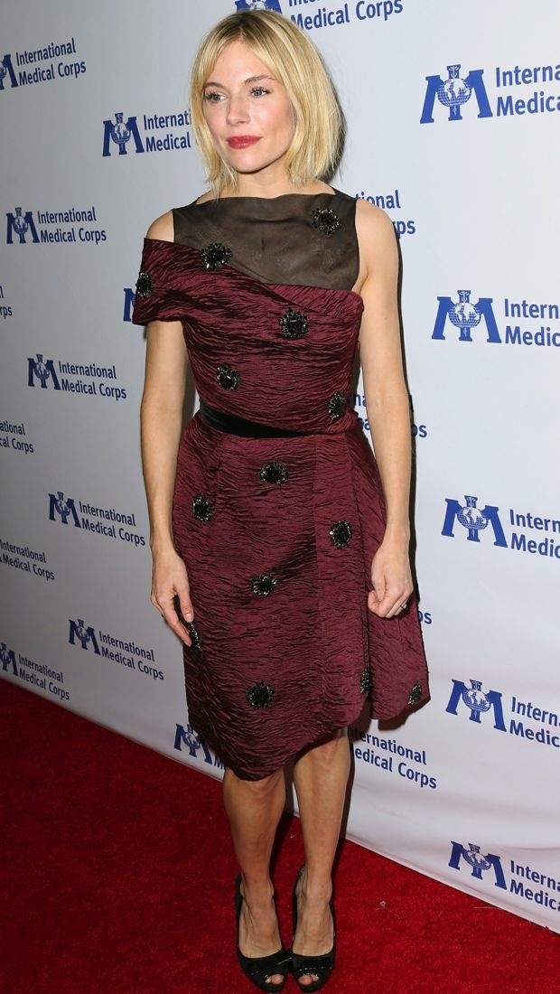 Sienna Miller Wears a Complex Erdem creation