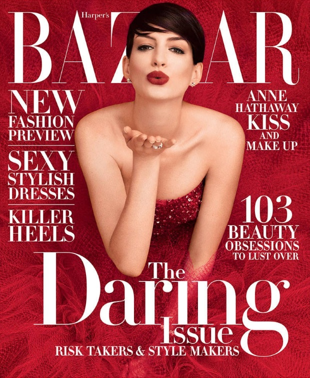 US Bazaar November 2014 Anne Hathaway