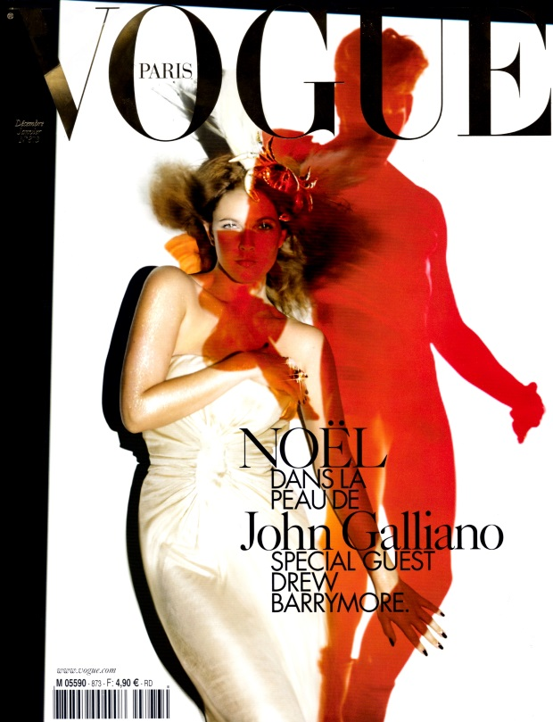 Flashback Vogue Paris Dec06/Jan07 Drew Barrymore John Galliano