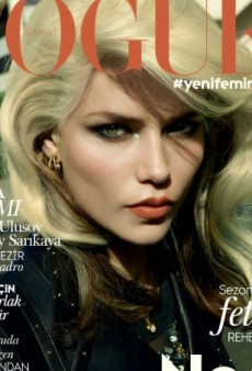 Natasha Poly Channels Debbie Harry on Vogue Turkey's October Cover (Forum Buzz)