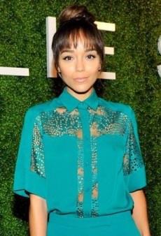 Ashley Madekwe Goes Teal for the Elie Saab Dinner
