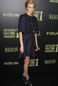 Isabel Lucas Tops Off Prabal Gurung with Offbeat Footwear